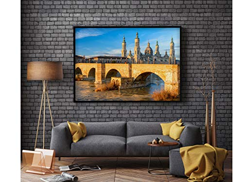 Oedim Cuadro Pegasus Impresión Digital Basílica del Pilar Zaragoza Cuadro Dibond 135 x 60 cm | Dibond para Pared, Resistente y Económico