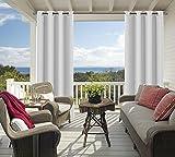 Cortinas opacas impermeables para exteriores, 2 paneles, cortinas para interiores y exteriores, para patio, pérgola, cortinas de porche con ojales en la parte superior, 137 x 213 cm (ancho x largo)