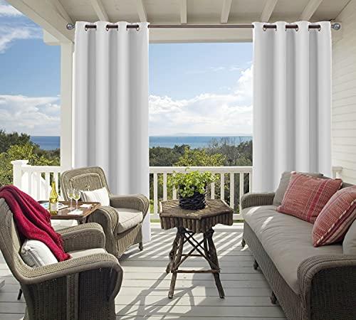 2 pannelli oscuranti impermeabili per esterni, tende da interni ed esterni per patio, pergolati, tendaggi veranda, tendaggi con passante, 132,1 x 213,4 cm (L x L)