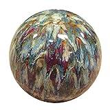 Alpine TOM252 Ceramic Gazing Globe, Tall Color, 10', Multicolor
