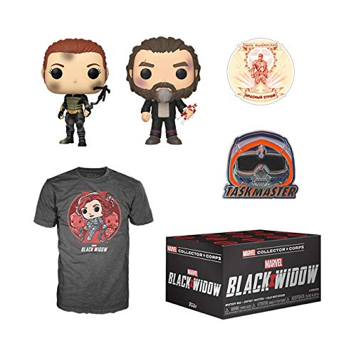 Funko Marvel Collector Corps Subscription Box, Black Widow Theme, May 2020, Medium T-Shirt, Multicolor