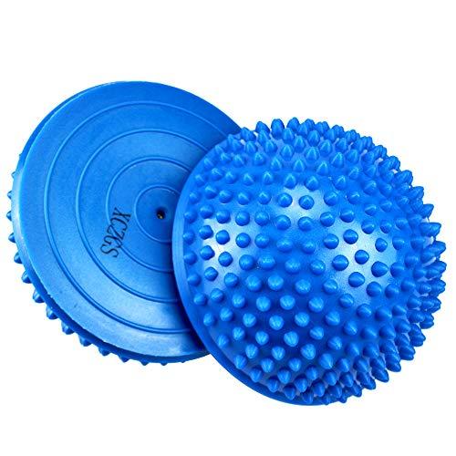 Semisfera a Riccio pedana Equilibrio, 2X Mezze Sfere di Yoga, Palla Massaggio del Piede Mezzo Sfera Balance per Esercizi Fitness Yoga Pilates