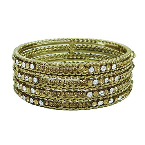 Frauen Wedding Kundan Armreif Kada Gesetzt Vergoldet Armband Designer-Schmuck 2 * 8