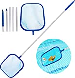 Aiglam Pool Leaf Skimmer, Fine Mesh Skimming Pool Net with 47¡± 5-Section Aluminum Pole for Cleaning Swimming Pool, Garden Pond, Hot Tub and Spa