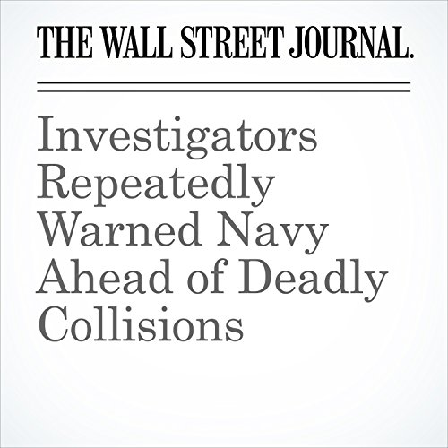 Investigators Repeatedly Warned Navy Ahead of Deadly Collisions audiobook cover art