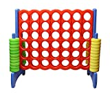 Get Out! Giant Four-in-A-Row Oversized Game – Jumbo Outdoor Large Lawn Yard Play Game for Girls & Boys, Kids to Adults