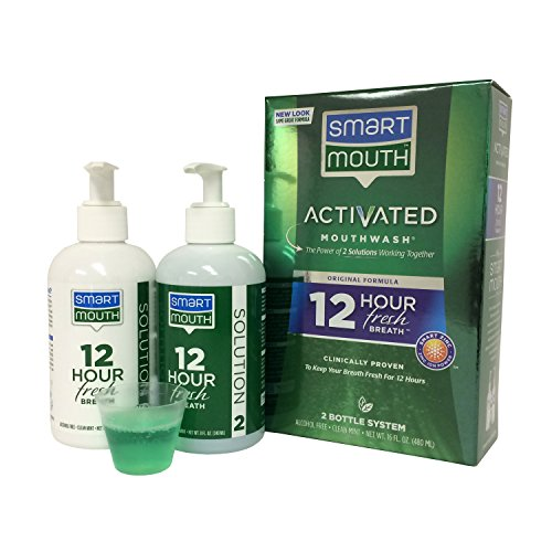 SmartMouth Alcohol-Free Mouthwash, Fresh...