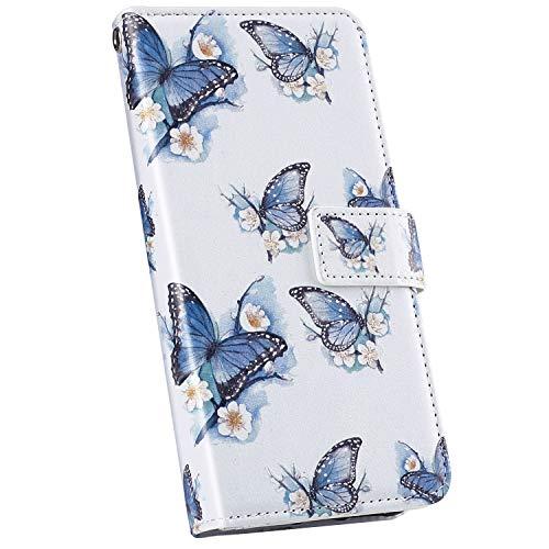 Ysimee Compatible avec iPhone 11 Pro Coque Portefeuille Magnétique en PU Cuir Motif Colorés Etui Multi-Usage Wallet Case avec Fentes de Cartes Poche Folio a Rabat Housse de Protection,Papillon