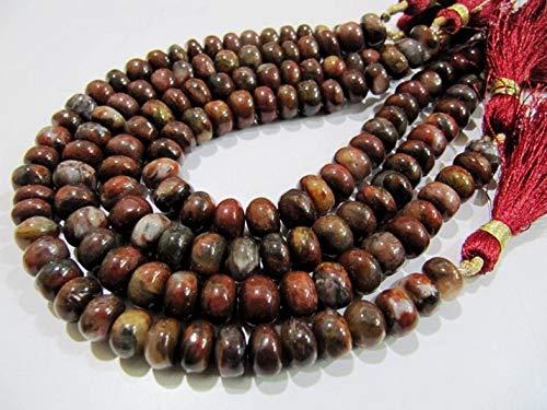 Shree_Narayani Ágata de sangre natural suave Rondelle cuentas/ojo de tigre rojo jade perlas 8-9mm tamaño hebra 8