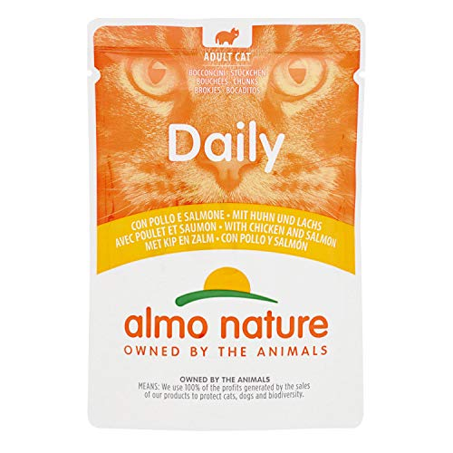 30er Pack Almo Nature Daily Menu Huhn & Lachs 70g