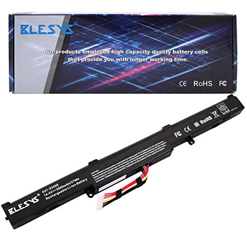 BLESYS A41-X550E Ersatz für Laptop Akku ASUS R752L R752LA R752LAV R752LB R752LD R752LDV R752LJ R752LJC R752LK R752LN R752LX R752SA-TY042T R751 R751J R751JA R751JB R751JK R751JM R751JN R751JX Batterie