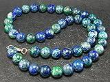 Quantum quattro collana di perle–Malachite Shattuckite Chrysocola Dioptase–45cm