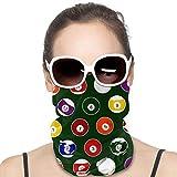 XCNGG Bola de Piscina Verde Billar Variedad Pañuelo para la Cabeza Pasamontañas Antipolvo Bandanas multifuncionales para Deportes al Aire Libre
