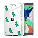 "MAYCARI Dinosaurs Case Fit iPad 10.2"" 2019 with Apple Pencil Holder, Cute iPad 7th Generation Case for Kids, Soft TPU Clear Back Cover Slim Smart Shell for Girls Women"
