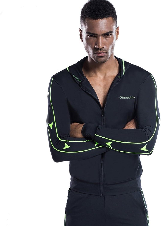 MEATFLY. Men's Long Sleeve DriFit Hoodie Lightweight Full Zip Hooded Sweatshirts