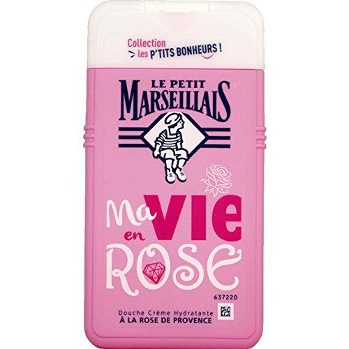 Le Petit Marseillais - Douche crème hydratante Ma Vie en Rose à la Rose de Provence - Le Flacon de 250 ML - (pour la quantité Plus Que 1 Nous Vous rem