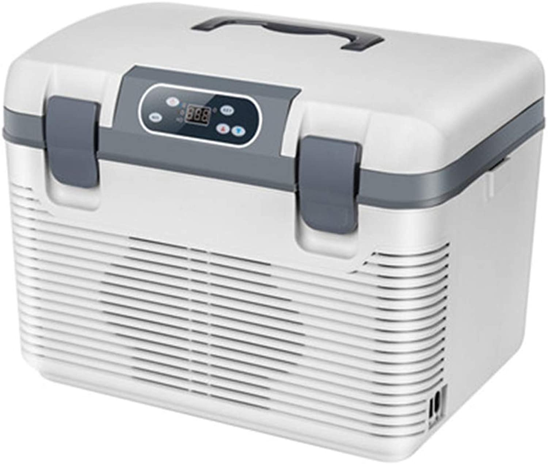 DLINMEI Auto Kühlschrank, 12V   24V Auto Dual-Core-Kühlung Heizung Thermostat 19L groe Kapazitt Kühllager, mit LCD-Digitalanzeige, Auto Dual-Use