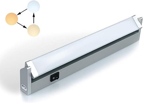 Réglette LED Orientable avec Interrupteur, Luminaire Sous Meuble Lumière Réglables pour Cuisine/Armoire/Placard/Escal...