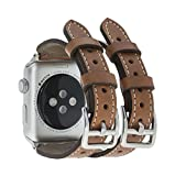 Solo Pelle Apple Watch Series 1/2/3 Watch Leder Armband Uhrenband mit passendem stabilem...