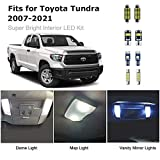 18pcs Tundra Interior LED Lights Kit Ultra Bright Map Dome LED Replacement Bulbs for 2007-2021 Toyota Tundra all Cab Sizes