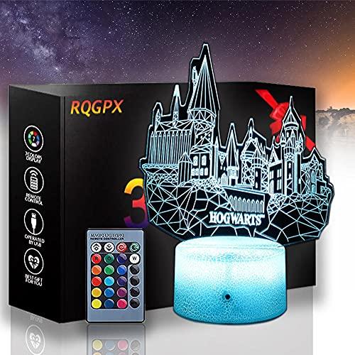 Lampe à illusion 3D à LED Harry James Potter G avec télécommande 16 couleurs changeantes en acrylique