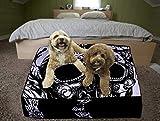 Funda de cojín con estampado de calavera, color blanco y negro, para suelo de mandala, 88,8 cm, cuadrada, bohemio, otomana, cama india, grande, funda para perro