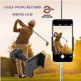 Soporte para teléfono de Golf Columpio Ayuda de grabación Carrito de Buggy Carrito de GPS Mentor de Entrenamiento de Entrenamiento Alineamiento Stick Bolsa Clip Montaje Eje Abrazadera Ajustable