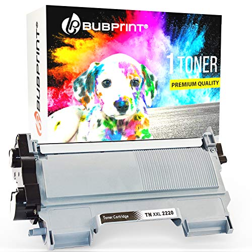 Bubprint Kompatibel XXL Toner als Ersatz für Brother TN-2220 DCP-7055 DCP-7055W DCP-7065DN HL-2130 HL-2135W HL-2240 HL-2240D HL-2250 HL-2250DN MFC-7360 MFC-7360N MFC-7460DN MFC-7860DW Fax 2840 Schwarz