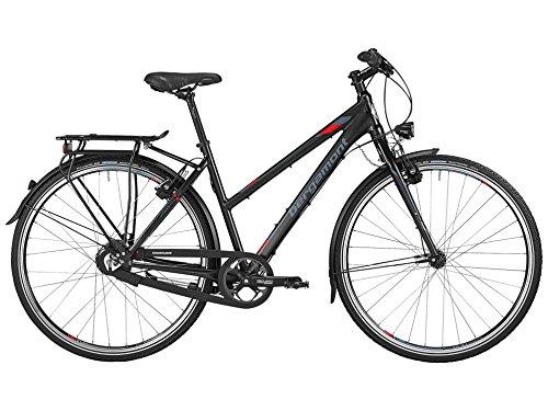 Bergamont Vitess R14 Damen Trekking Fahrrad schwarz/grau/rot 2016: Größe: 44cm (158-164cm)