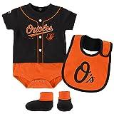 Baltimore Orioles Black Infants Tiny Player Creeper Bib & Bootie Set (12 Months)