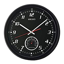 Seiko When Time & Temp Matter Wall Clock