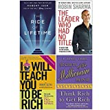 The Ride of a Lifetime, The Leader Who Had No Title, I Will Teach You To Be Rich, Secrets of the Millionaire Mind 4 Books Collection Set