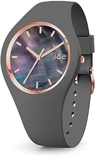 Ice-Watch - Ice Pearl Grey - Montre Grise pour Femme avec Bracelet en Silicone - 016938 (Medium)