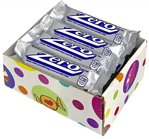 Zero White Fudge Candy Bar Pack of 16 by Candylab