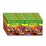 Nature Valley Chewy Trail Mix Granola Bar, Fruit and Nut, 12 Bars, 7.4 oz (Pack of 12)