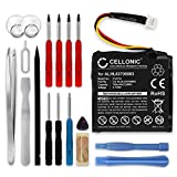 CELLONIC® Batería compatible con TomTom Start 20 Start 25, 4EN.001.02 4EN42 4EN52 4EV42 4EV52, 1ICP6/34/36 AHA11108001 ALHL03708003 Quanta VF3k 700mAh + Juego de destornilladores bateria repuesto pila