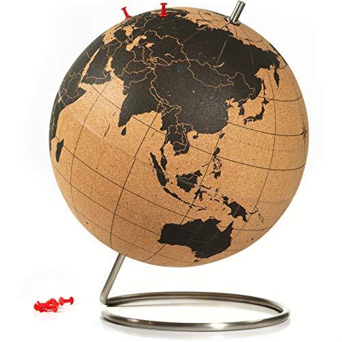 SUCK UK Corcho Bola Mundo | Decoración del Hogar-Globo terráqueo Grande, Color,...