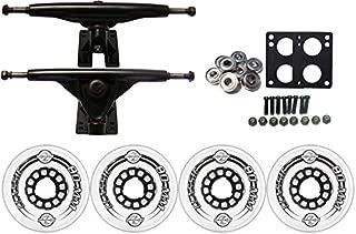 TGM Skateboards KRYPTONICS Classic Truck Wheel Pack 80mm Clear 180mm Black