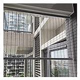 XJJUN Transparente Rollos, PVC wasserdichte Seitenwand-Trennwand-Sonnenschutz Im Freien, Für Gartenpergola (Color : Klar, Size : 0.6x2m)