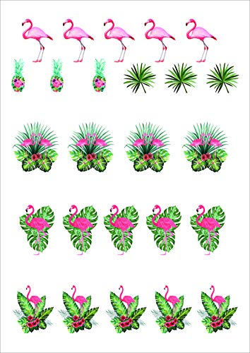 26pcs flamingo cake toppers edible Cute Cratoon flamingo cupcake decoration edible the best flamingo party supplies