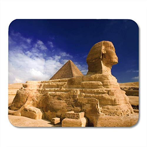 Mauspad Egypt Sphinx Pyramide Cairo Antike Giza Urlaub Reise Afrika Mauspad für Notebooks, Desktop Computer Mauspad, Bürobedarf 25,4 x 30,5 cm
