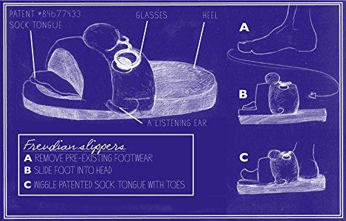 Freudian Slippers – Comfy Plush Slip – On Footwear – Size Medium Black