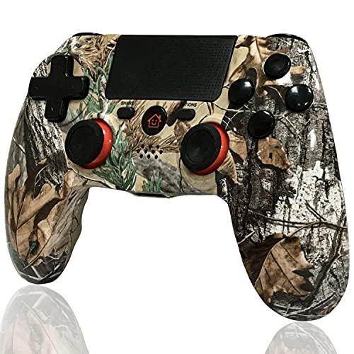 BMSARE Controller per PS4, Bluetooth Wireless Joystick Gamepad Joypad Controllers per PS4 PRO/Slim con 6 Axis Gyro Sensor e Dual Shock Vibrazione, Audio Microfono e Touch Panel Graffiti