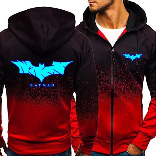 Homme Sweats à Capuche,Sweatshirts - 3d Batman Imprimer Décontracté Manches longues Hoodies - Cadeau Adolescent Red-XX-Large