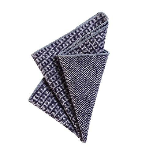 DonDon heren pochet zakdoek 23 x 23 cm katoen tweed look geruit