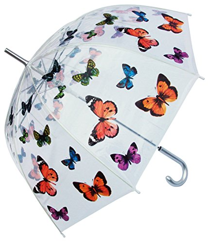 """RainStoppers W3467 Clear Dome Butterfly Print Arc, 46"""", Multi (W3467BUTTERFLY)"""