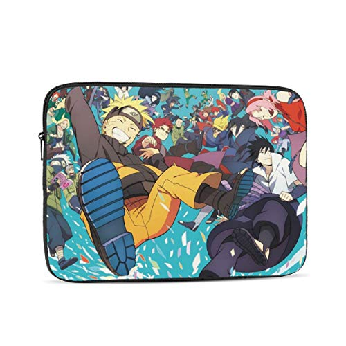 Naruto Anime 15 inch Laptop Sleeve Case Bag Cover Slim Lightweight Shockproof Notebook Computer Pocket Case (No 10 12 Inch)
