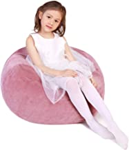 Stuffed Animal Storage Bean Bag Chair, Bean Bag Cover for Organizing Kid's Room - Fits a Lot of Stuffed Animals, Large/Pink