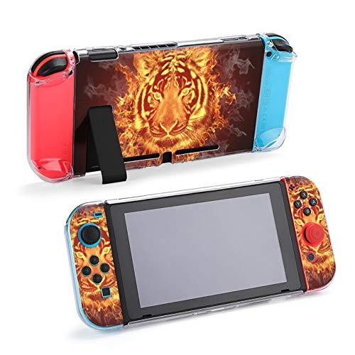 Head of Fire Tiger Estuche con Cubierta acoplable para Nintendo Switch, Estuche Protector para Nintendo Switch