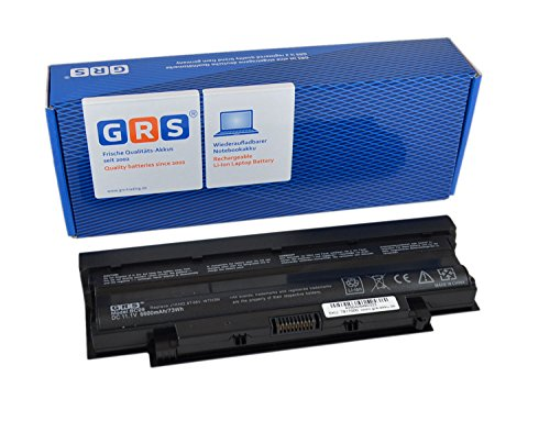 GRS Akku J1KND mit 6600mAh für Dell Vostro 3550, 3750, 3555, Dell Inspiron 15R, 17R, ersetzt: 4T7JN, 383CW, 04YRJH, 9T48V, J4XDH, TKV2V, 312-0233, Laptop Batterie 6600mAh, 11.1V/ 73Wh